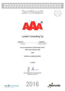 AAA-sertifikaatti_LuotainConsultingOy2016