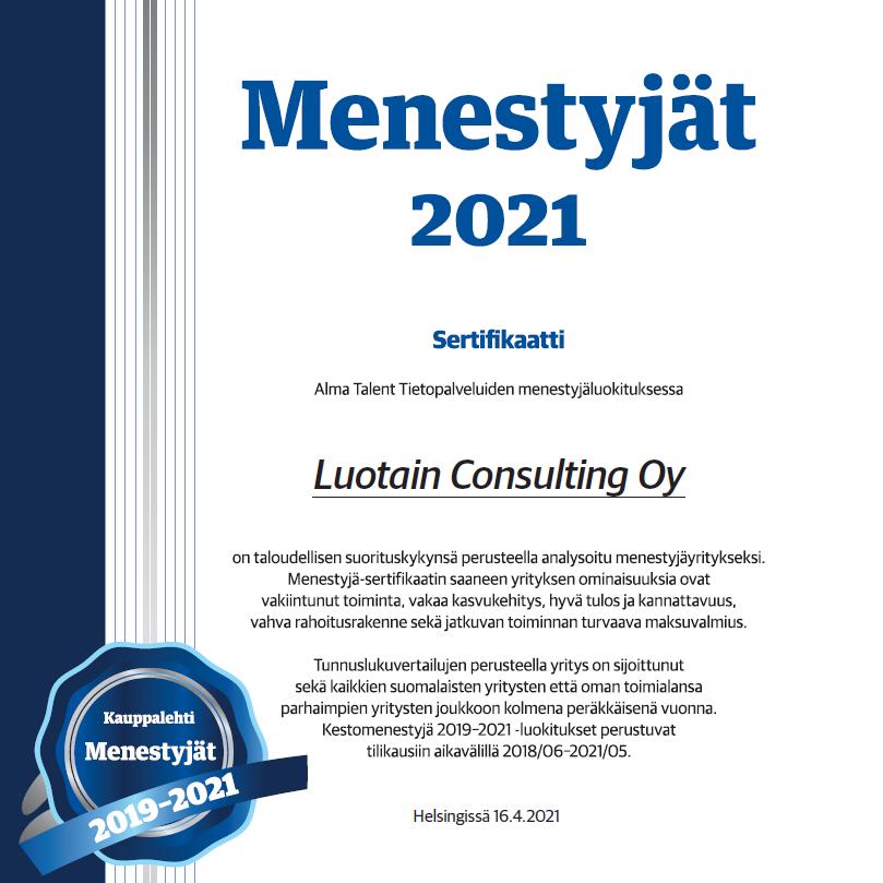 Menestyjät 2021